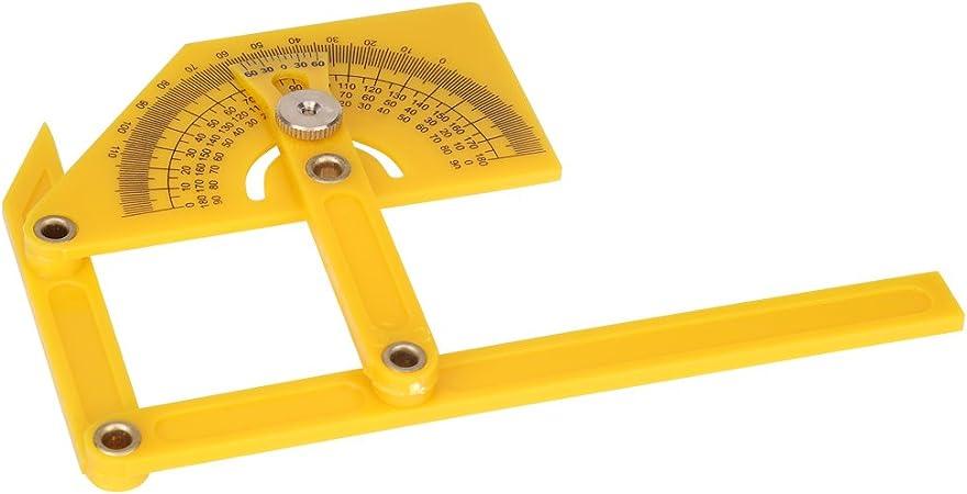 1x Goniometer Angle Finder Miter Gauge Arm Measure Protractor Plastic Ruler V7M6