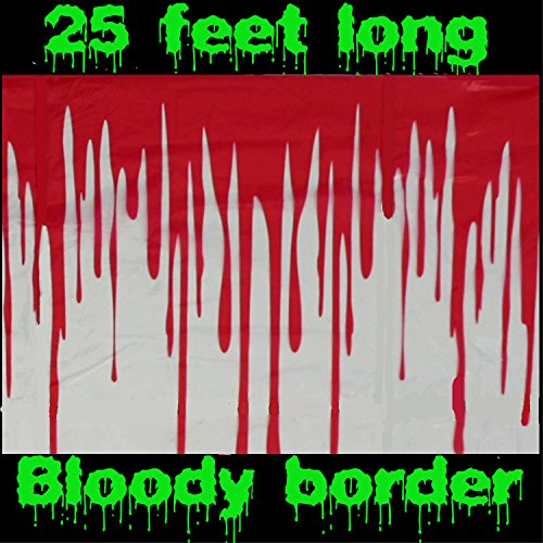 Horror BLOODY BORDER Scene Setter Wall Trim Halloween Party Decoration Prop-25ft