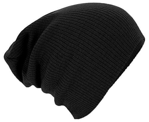 Negro Única Slouch Beechfield Unisex Talla Gorro BLK B461 negro wCXqBz