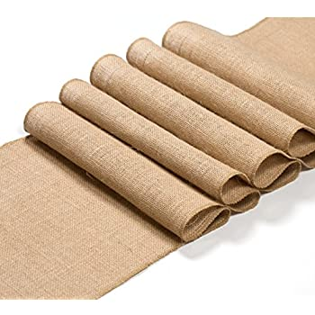 Burlap Table Runner 108 Inches Long   Rustic Wedding Table Runner  Decoration   Dining Table Runner
