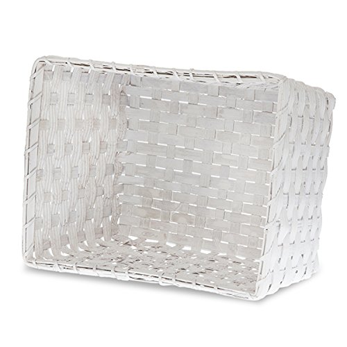 The Lucky Clover Trading White Rectangular Woodchip Utility Basket, Large