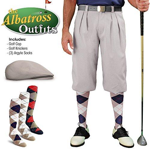 メンズゴルフKnicker Outfit – トープゴルフKnickers、ゴルフキャップ、3アーガイルソックス