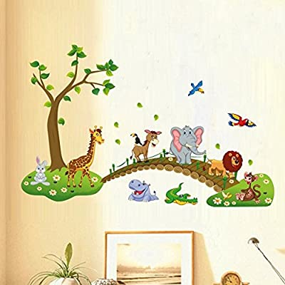 Alphabet Animals ABC Wall Decals Peel and Stick Easily Removable for Daycare School Kids Room Decoration Decals For Baby Boys Girls - Top Quality - Nursery Bedroom Educational Wall Art