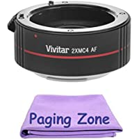 2x Teleconverter (4 Elements) + PZ Cleaning Cloth for Nikon 24-85mm f/3.5-4.5G ED-IF AF Zoom Nikkor Lens