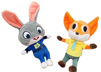 Linda 20cm Zootopia Judy Hopps y Nick Wilde juguetes de peluche