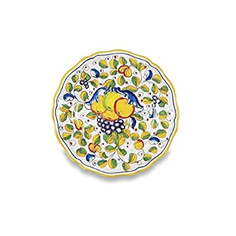 Deruta Hand Painted Miele Ceramic Dinner Plate From Italy  sc 1 st  Amazon.com : italian dinner plates ceramic - pezcame.com
