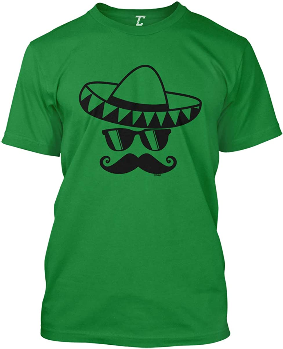 Cinco De Mayo Mustache Face - Sombrero Men's T-Shirt