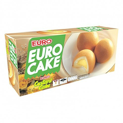 Euro Custard Cake 1 Box Net Wt 144 G