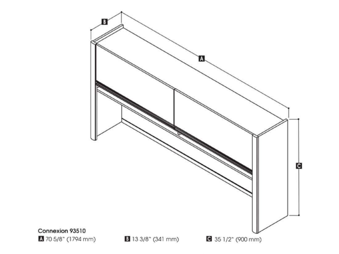 Hutch for credenza Desk by Bestar (Image #2)
