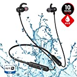 Bluetooth Wireless Gym Headphones, JT SOUND Noise Cancelling Headphones w/Mic, Magnetic HD Stereo