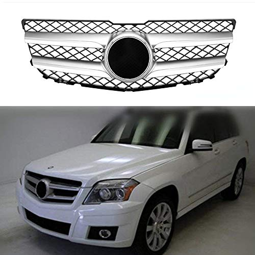 MotorFansClub Front Upper Mesh Grill Grille for Mercedes Benz GLK X204 GLK350 2010 2011 2012