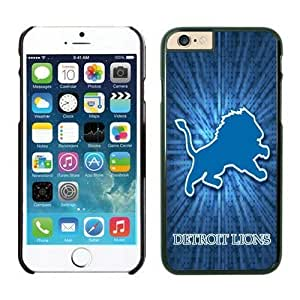 NFL iPhone 6 Plus 5.5 Inches Case Detroit Lions Black iPhone 6 Plus Cell Phone Case ONXTWKHB1465