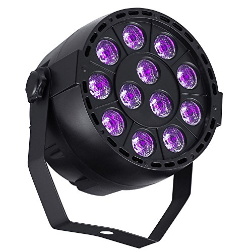 DeepDream 36W Black Light UV LED Lamp DJ Blacklights Ultraviolet Bulb Auto Lighting Voice Control For Party Stage Wedding Disco Club - Blacklight Light Bulb