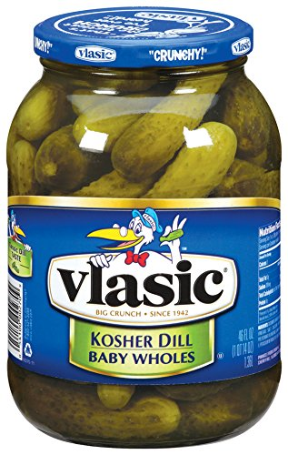 Vlasic Baby Wholes, Kosher Dill, 46 Ounce (Pack of 6)