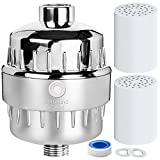 10 Stage Shower Water Filter Softener With 2 Replaceable Cartridges - For Any Shower Head And Handheld Shower - Removes Chlorine - For Bath Hard Water - Boosts Skin And Hair Health By Surround Point