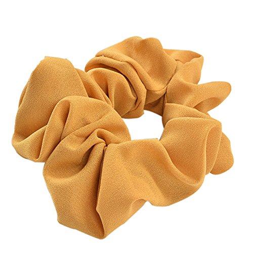 Yellow Scrunchie (Bluelans Girls Velvet Scrunchies Hair Bobble Elastics Hair Scrunchy Hair Bands Headbands)