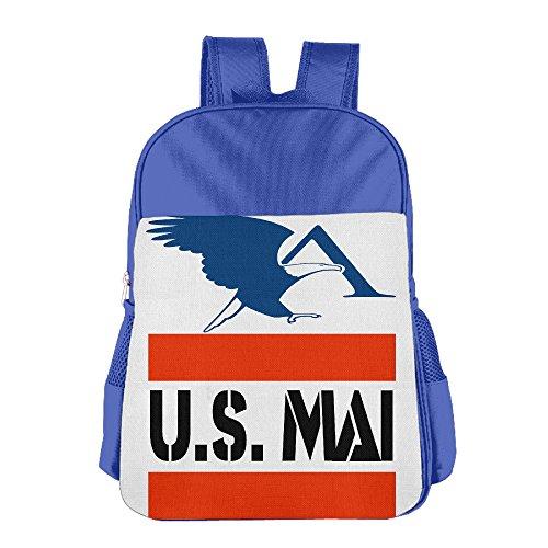 UFBDJF20 U.S. Mail Eagle Logo Children's School Bag RoyalBlue