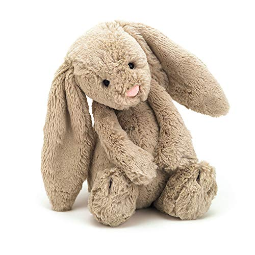 Jellycat Bashful Beige Bunny Stuffed Animal, Medium, 12 inches]()
