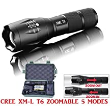 Mokao G700 X800 LED Flashlight Tactical XML-T6 Zoomable Torch Lamp 18650 AAA