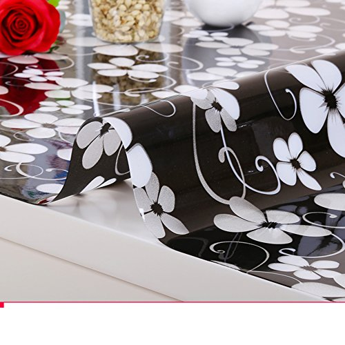 Pvc,[waterproof],european-style tablecloths/soft glass,transparent, avoid ironing tablecloths/tv cabinet,crystal table mat/tea table mats-C 80x80cm(31x31inch) by HAKLLASDFNFDES