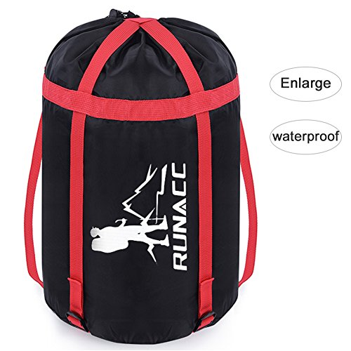 Including Stuff Sack - Uarter Waterproof Compression Sack Sleeping Bag Pack Storage Bags for Camping Black (M)