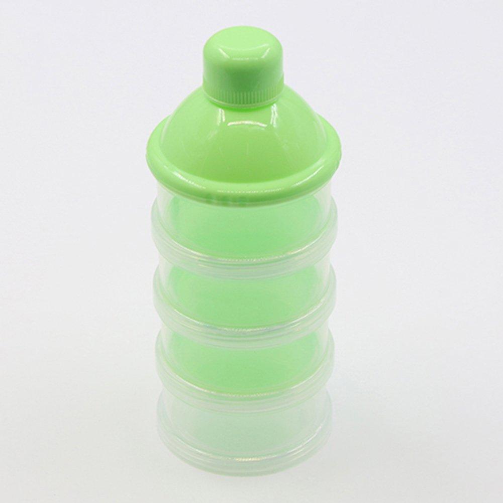 Bluelans Formula Dispenser, BPA Free Non-Spill Baby Milk Powder Dispenser & Snack Cup Storage Container (Green)