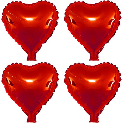 (22 pcs Red Heart Shape Foil Mylar Balloons for birthday party decorations, Wedding decorations, engagement party, celebration, holiday, show, party activities.(size:18