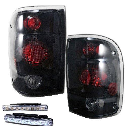 Ford Parts Diagram Ranger (1998-2001 FORD RANGER REAR BRAKE TAIL LIGHTS LAMPS SMOKED LEN+LED BUMPER RUNNING)