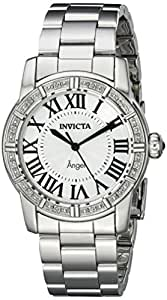 Invicta Women's 14373 Angel Silver Dial Diamond-Accented Stainless Steel Watch