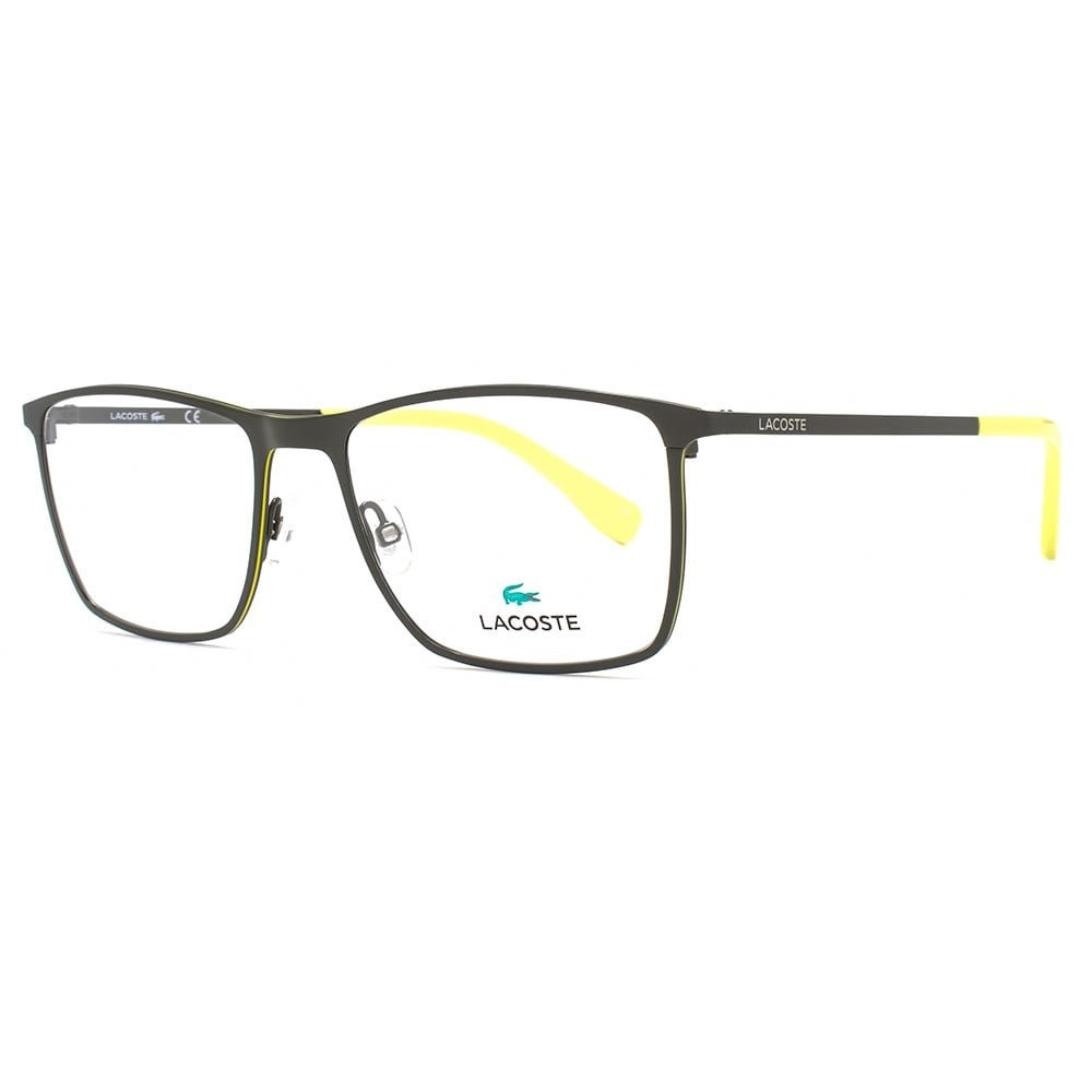 Lacoste L2223 Brille in mattem grün L2223 315 54 54 Clear: Amazon.de ...
