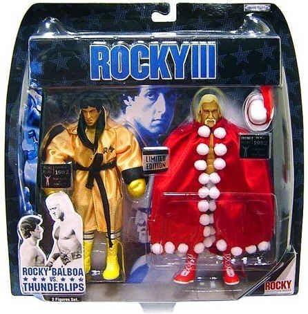Jakks Pacific Rocky III Exclusive Action Figure 2-Pack Rocky Vs. Thunderlips by Jakks Pacific: Amazon.es: Juguetes y juegos