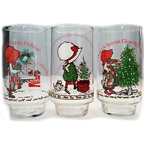 vintage-holly-hobbie-coca-cola-drinking-glass-6-collectible-happy-holiday-nicest-time-special-glow-1