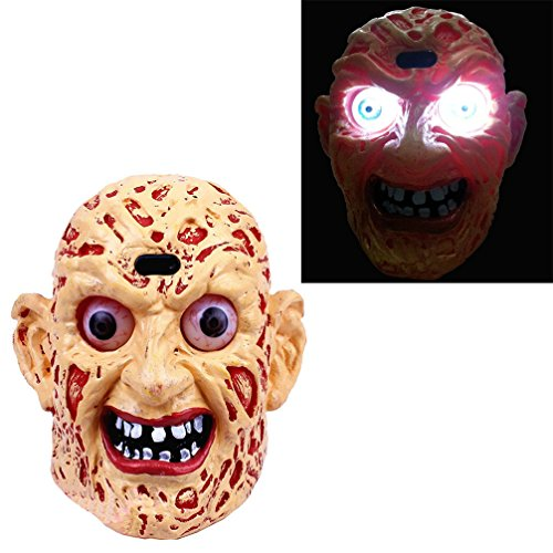 Coostyle Monster Ghost Head Lamp Figurines with LED Light and Horror Creative Sound Touch Sensitive Halloween Decoration Props ()