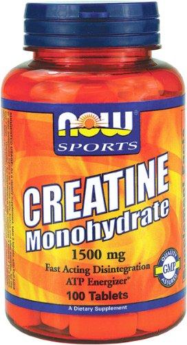 NOW Foods 1500mg Monohydrate de Créatine, 100 Comprimés