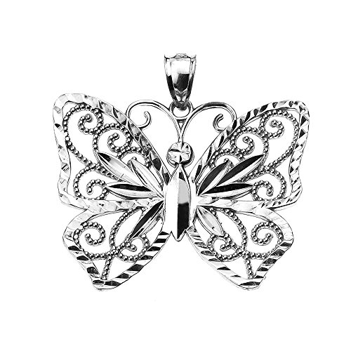 Filigree Butterfly Sterling Silver Pendant