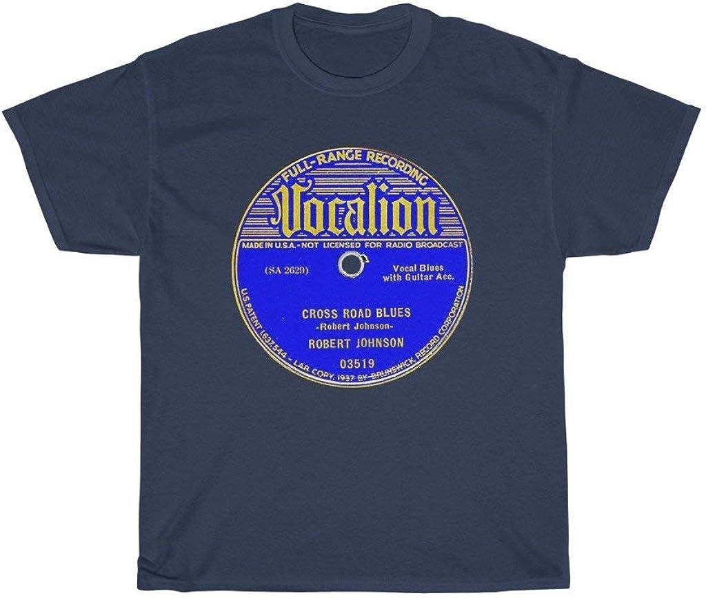 Vintage Blues Robert Johnson Cross Road Blues Vocalion 78 RPM Record Label Men's Women's Unisex T Shirt Tee