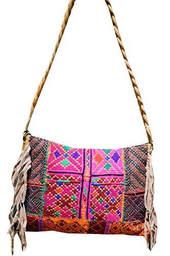 Shoulder Sling 17 Bag Womens New Hnadbags Embroidery Banjara Vintage PatchWork Indian Crossbody Zari Style XqTSgw