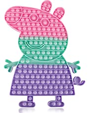 Jumbo Big Giant Pop Fidget Toys Bubble It Huge Mega Large Biggest Popitsfidgets Sensory Toy Poppers Pops Popit Popits Popitz Its It's Anxiety Stress Relief Autism Push, Rainbow Gift Cute Bubbles