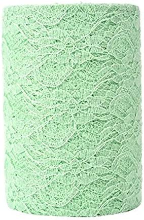 Haperlare None 6 Inch x 25 Yards Vintage Ribbon Netting White Fabric Tulle Rolls for Lace Table Runner Chair Sash DIY Wedding Party Bridal Shower Decorations