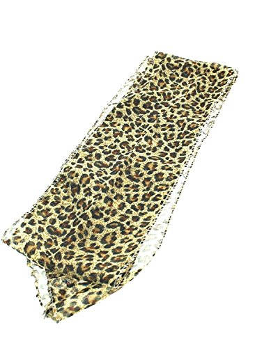 Zac's Alter Ego Women's 3 In 1 Patterned Sash Scarf/Head Scarf/Neck Scarf Approx. 156 X 14Cm Brown Leopard