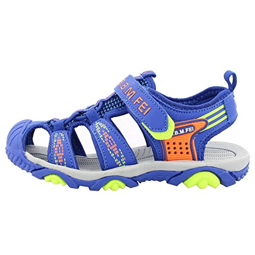 Picture of SENFI Boys Sport Sandal Summer Breathable Closed-Toe Strap Walking Shoes