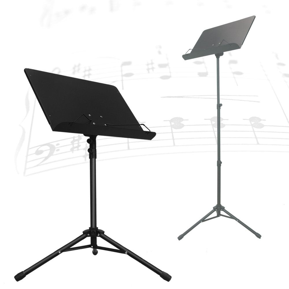 PARTYSAVING Orchestra Sheet Music Stand with Heavy Duty Black Metal Folding Design, 48.5-inch Tall, APL1359 4334224620