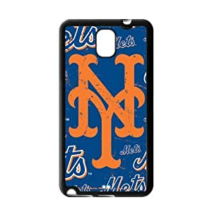 MLB New York Mets Logo Theme Custom Design Case Protective Cover Skin For Samsung Galaxy Note3-NY251
