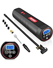 Oasser Portable Air Compressor Mini Tire Inflator Cordless Air Pump for Cars Motorcycles Bicycles Other Inflatables with Digital Pressure Gauge 2000mAh Lithium Battery 12V AC/DC 20Liters/Min P1S