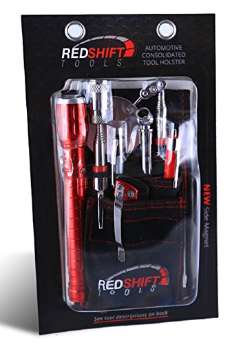 RED SHIFT TOOLS HIP TOOL MAGNETIC HOLSTER 8 PIECE SET FOR HOME DIY - SHOP - AUTO - MOTOR SPORTS by RED SHIFT TOOLS