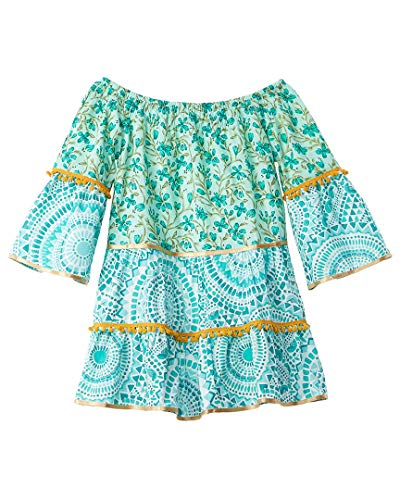 Azul Girls Swimwear Boho Chic Dress, L Green from Azul