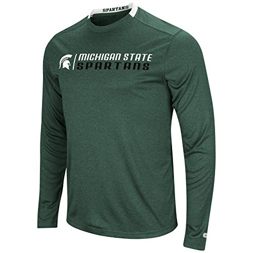 Colosseum Men's NCAA-Hypno Long Sleeve Tech Tee-Michigan State Spartans-Heathered (Michigan State Spartans Big Game)