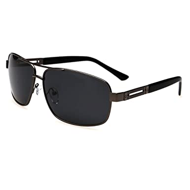 c069e5af0b4 AiSi Men s Aviator Square 63mm Polarized Sunglasses for Driving ...