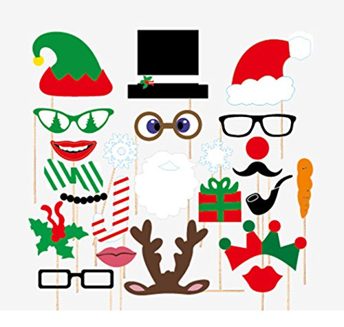 Christmas Party - Photo Booth Props Kit - 24 Count