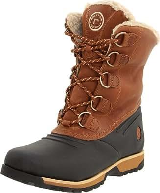 """Rockport Men's Lux Lodge Fleece-Lined 12"""" Boot,Black/Wheat,8.5 W US"""
